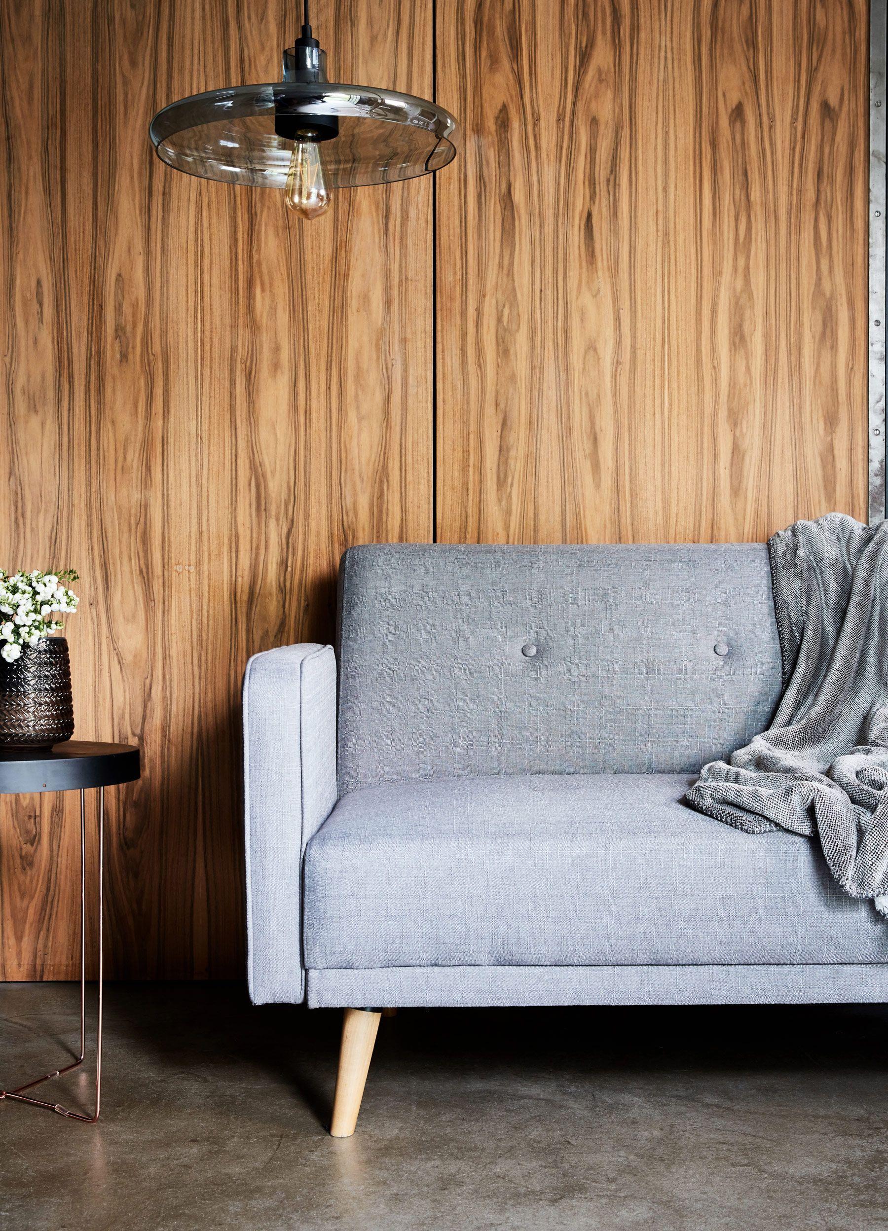 Adele Banquette 3 Places Convertible En Tissu Gris Deco