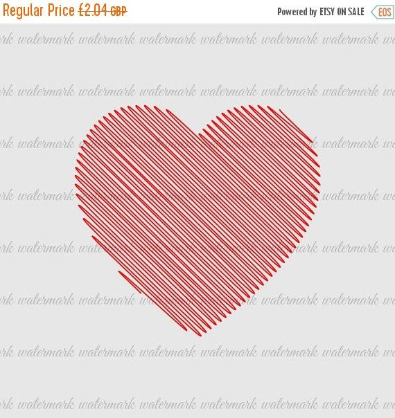 60% OFF SALE KP446 - Scribble Heart - Printable clipart Digital image Fabric Transfer Supplies Cardmaking Scrapbooking Instant Download Craf (0.82 GBP) by KnowPressClipart