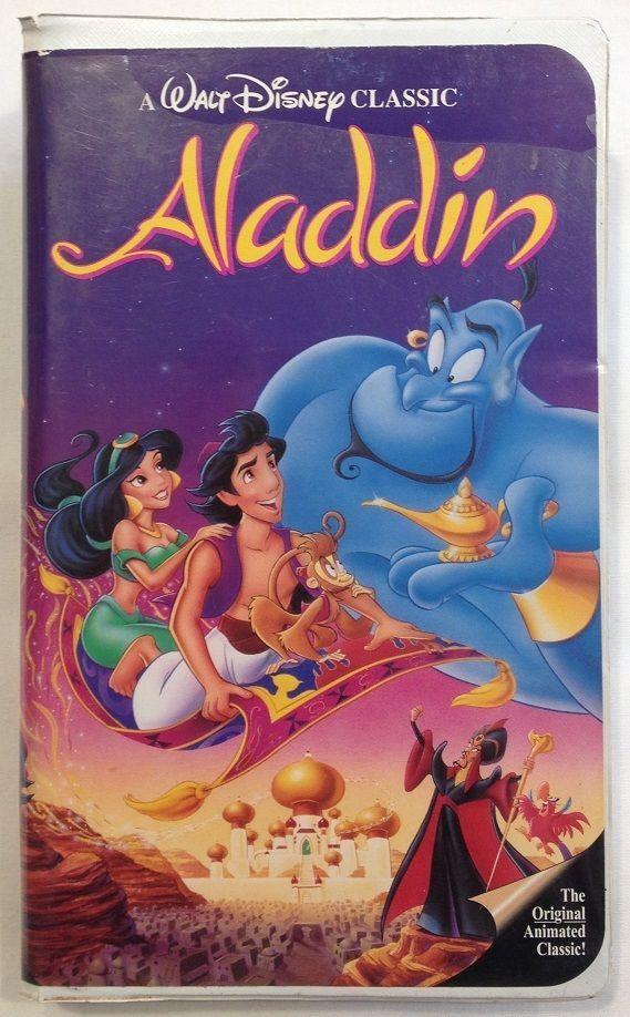 Walt Disneys Aladdin Black Diamond Classic RARE VHS