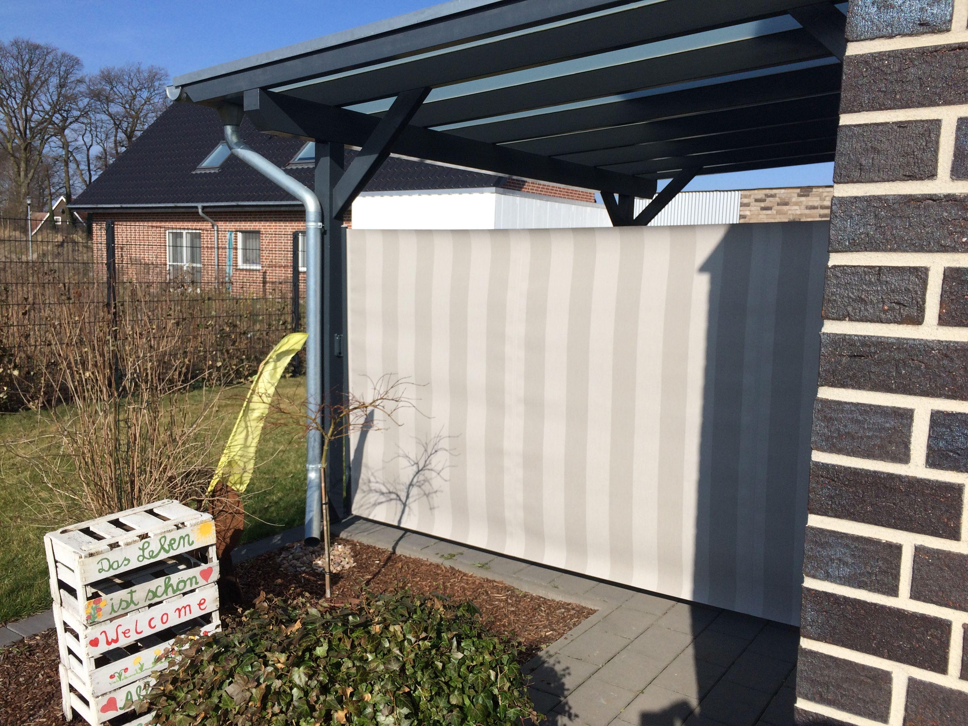 Seitenmarkise Als Windschutz Und Sichtschutz Am Terrassendach