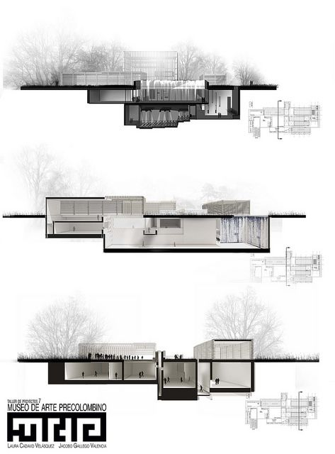 Elevation Plan Presentation : Cortes map architecture drawings and architectural