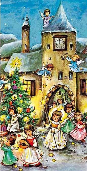 Calendrier De Lavent Allemand.Hummel Advent Calendar From Germany Illustrations