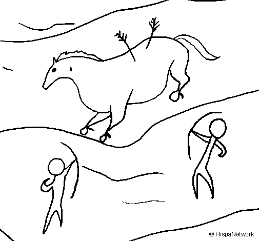 Cave Art Coloring Sheets Page Painting Colored By Me