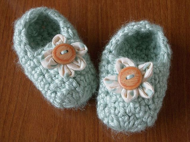 Crocheted Booties by PatchworkPottery, via Flickr