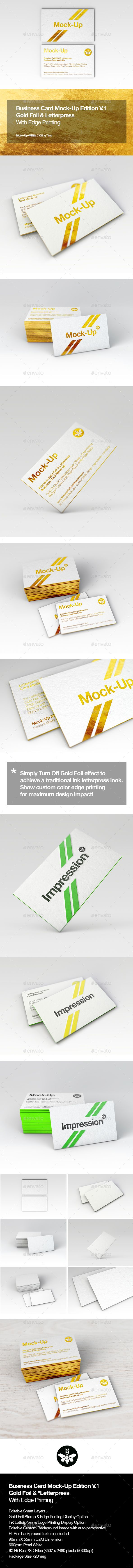 Luxury gold foil ink letterpress business card mock up luxury gold foil ink letterpress business card mockup photoshop psd realistic bespoke available here reheart Images