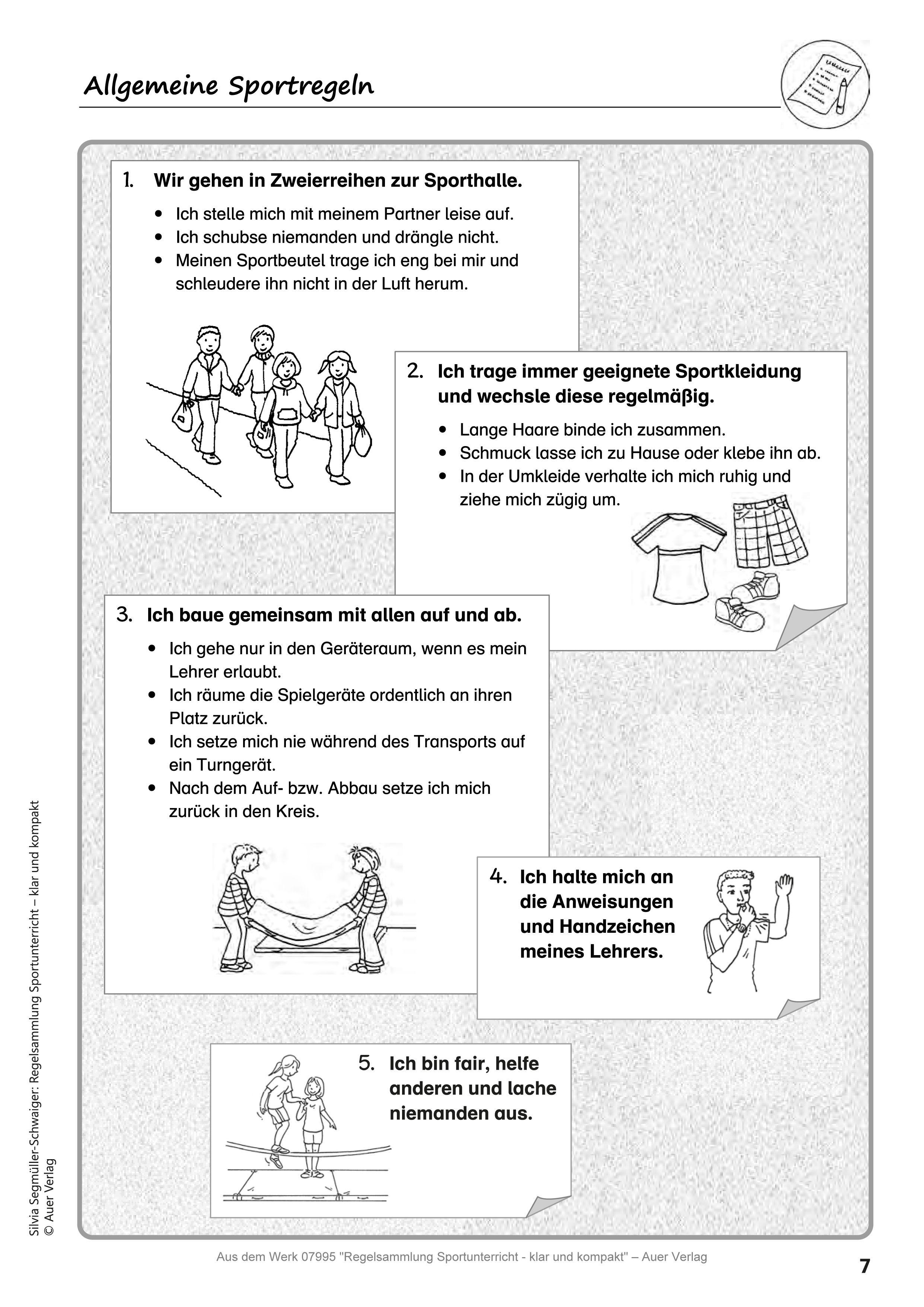 Regelsammlung Sportunterricht klar und kompakt