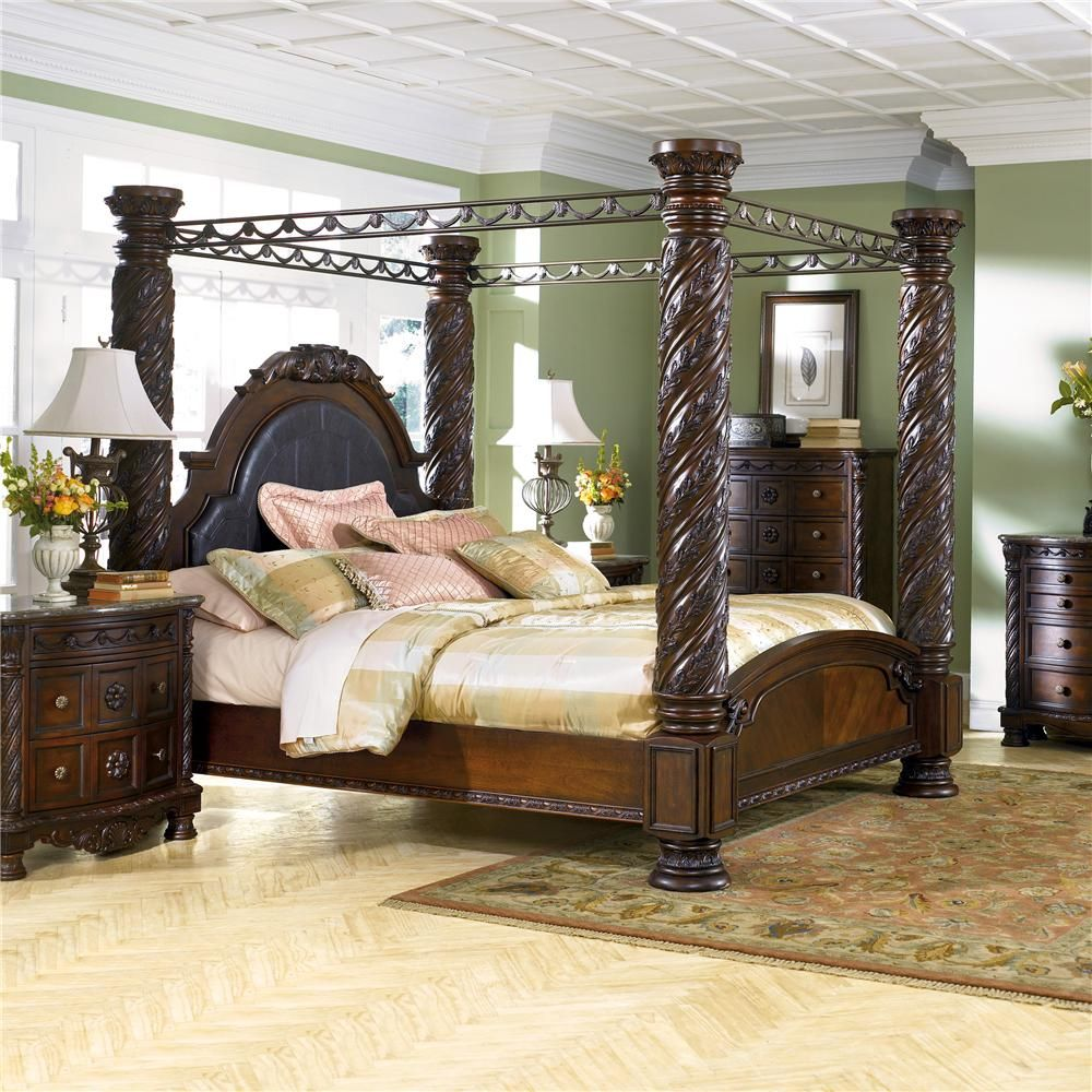 Marlo Furniture Bedroom Sets Millennium North Shore King Canopy Bed Ace Furniture Decor