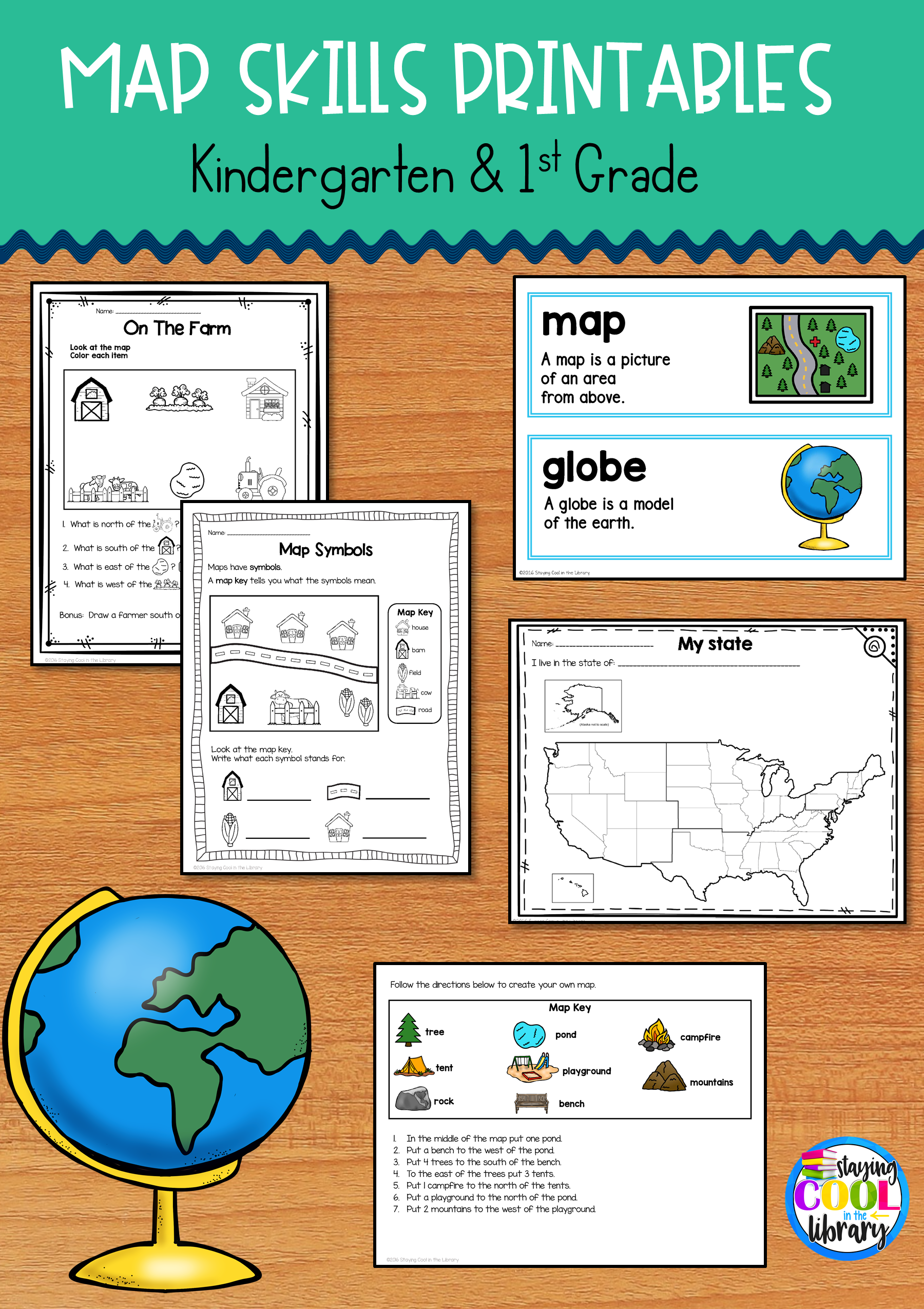 Map Skills Printables For Kindergarten And First Grade