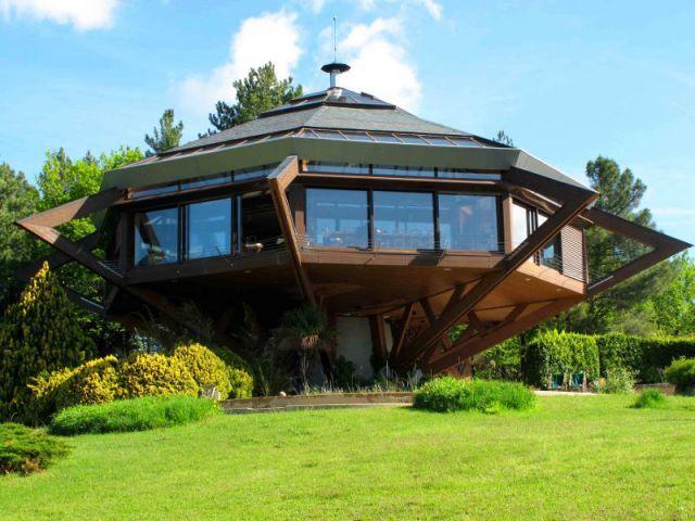 maison bois octogonale