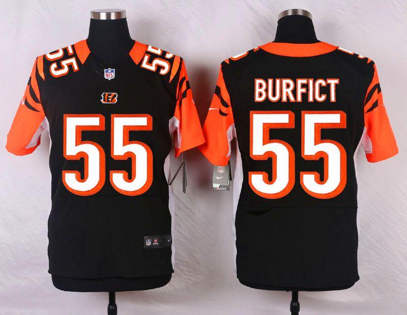 Nice NFL Customize Cincinnati Bengals 55 Burfict Black Men Nike Elite