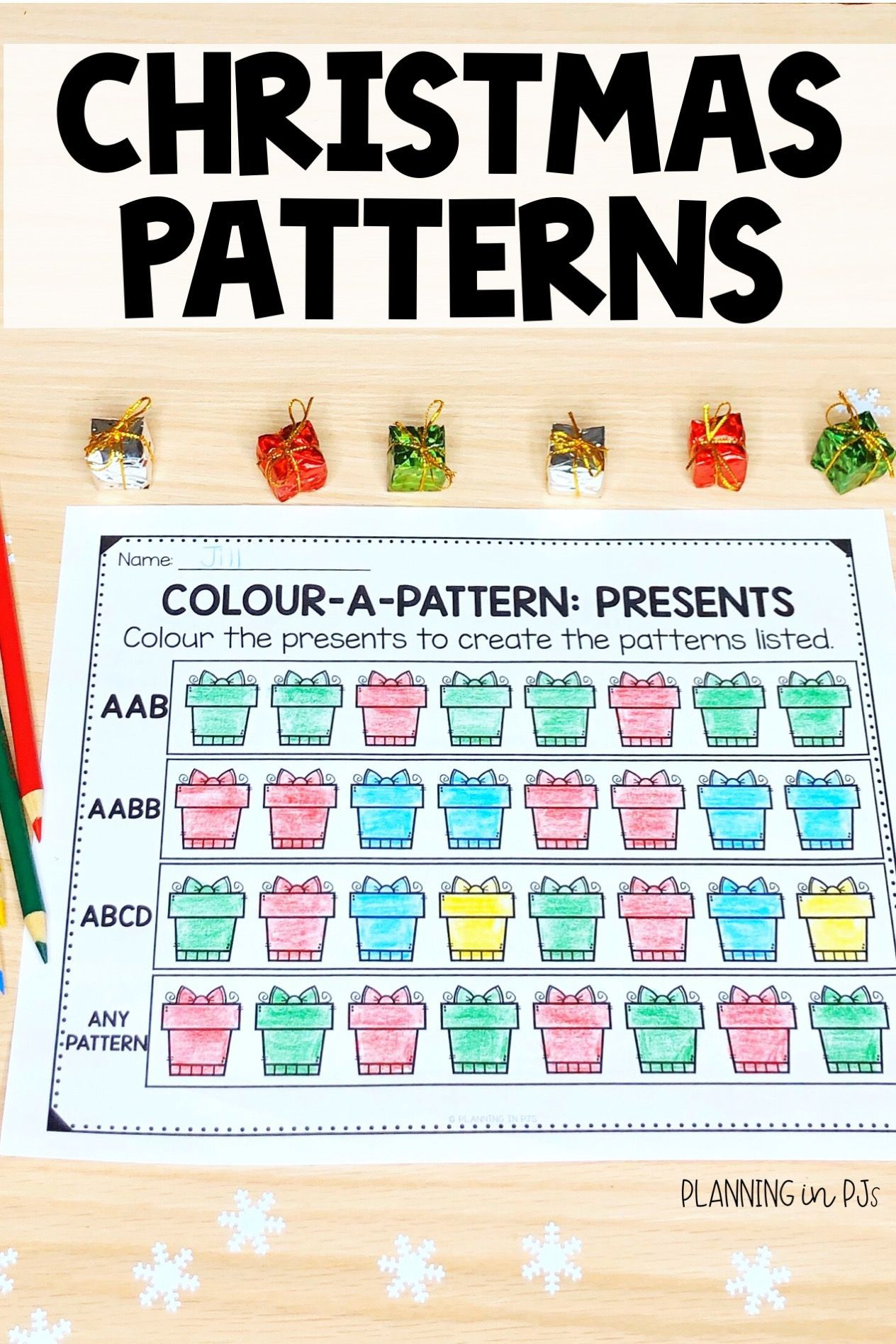 Color A Pattern Christmas Colour A Pattern