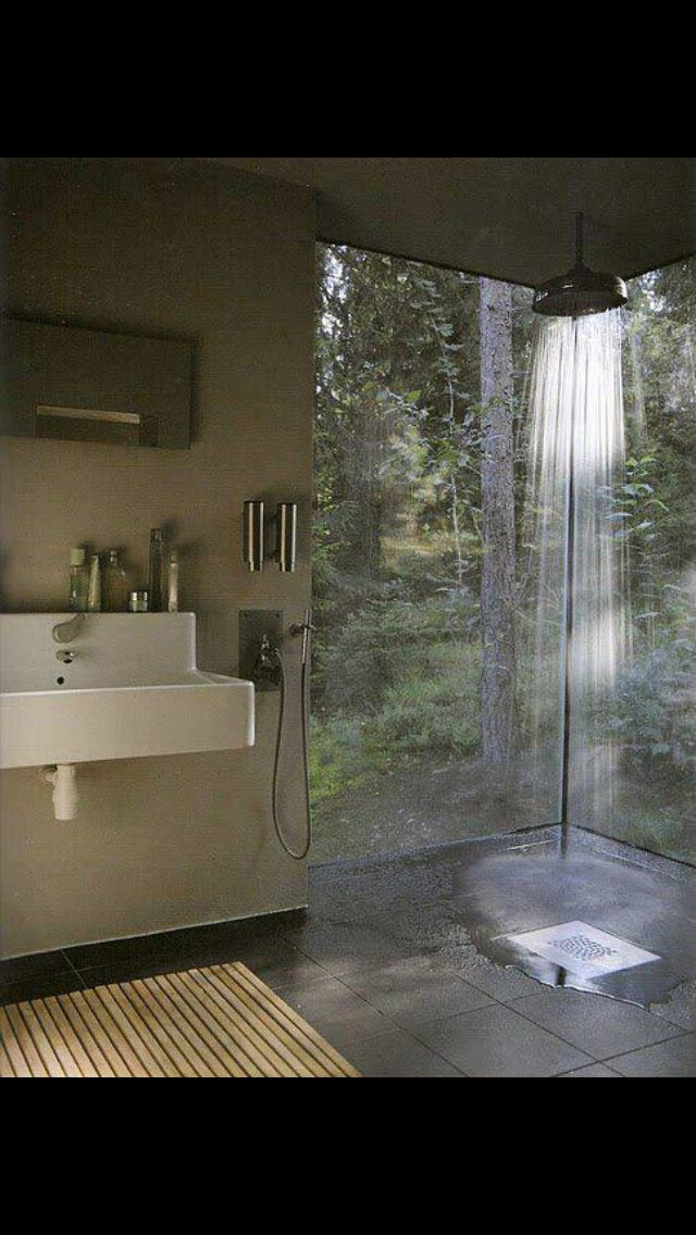 A shower with a view - love this!