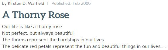 This Metaphor In Poetry Compares Life To A Rose Life Can Be