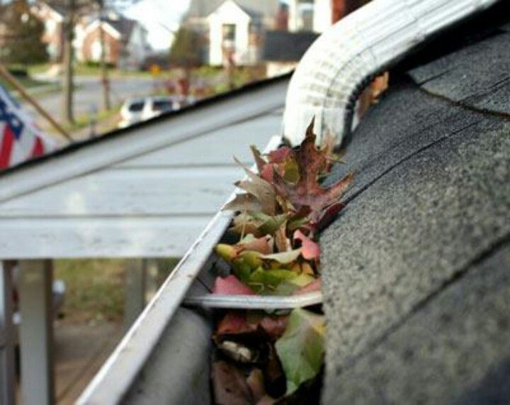 A Ball In The Gutters To Keep Leaves From Clogging It Genius Rain Chain Gutter Gutters
