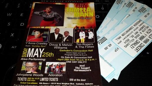 If you are in the Atlanta area, I have 3 tix for tonight's Gospel Concert feat. Tamlea Mann, Y'Anna Crawley,  Doug & Melvin Williams,  Tim Rogers & The Felkas; Johnathan Woods,  & Adoration.  Show start @فآطمھَ نآصرَ ♚' so get at me ASAP. Will give a good rate to the very first person who calls.  240-723-5630