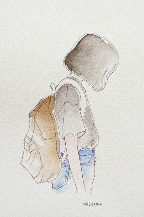 Imagem de art, girl, and sad #wasserfarbenkunst