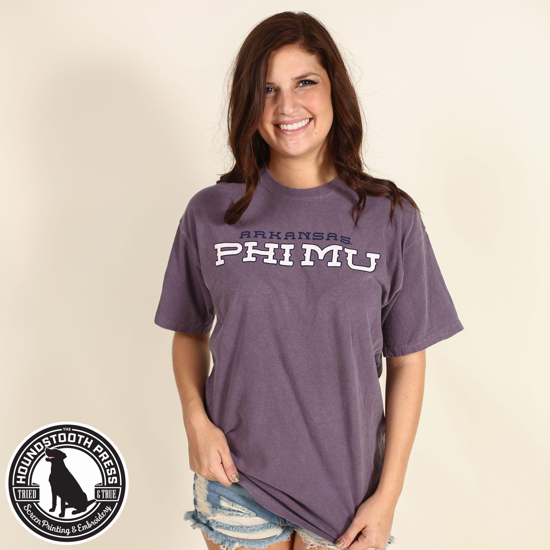 University Of Arkansas Phi Mu Bold Design T Shirt Comfort Colors