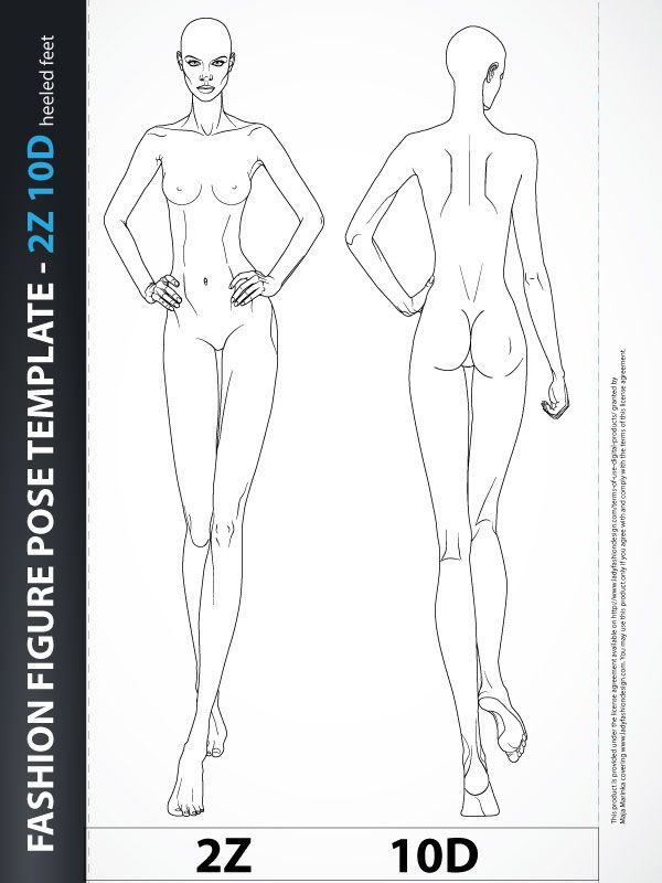 Fashion Figure Fashion Design Body Template 2z10d Catwalk Lady Fashion Design Fashion Figures Fashion Figure Drawing Fashion Design Template