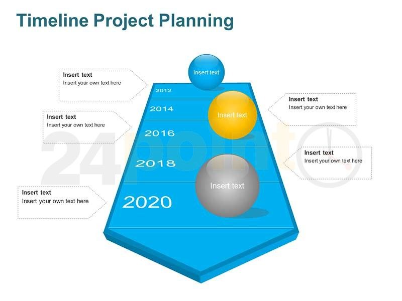 Use our 6 slide Timeline Project Plan Template as a planning tool - project plan ppt template