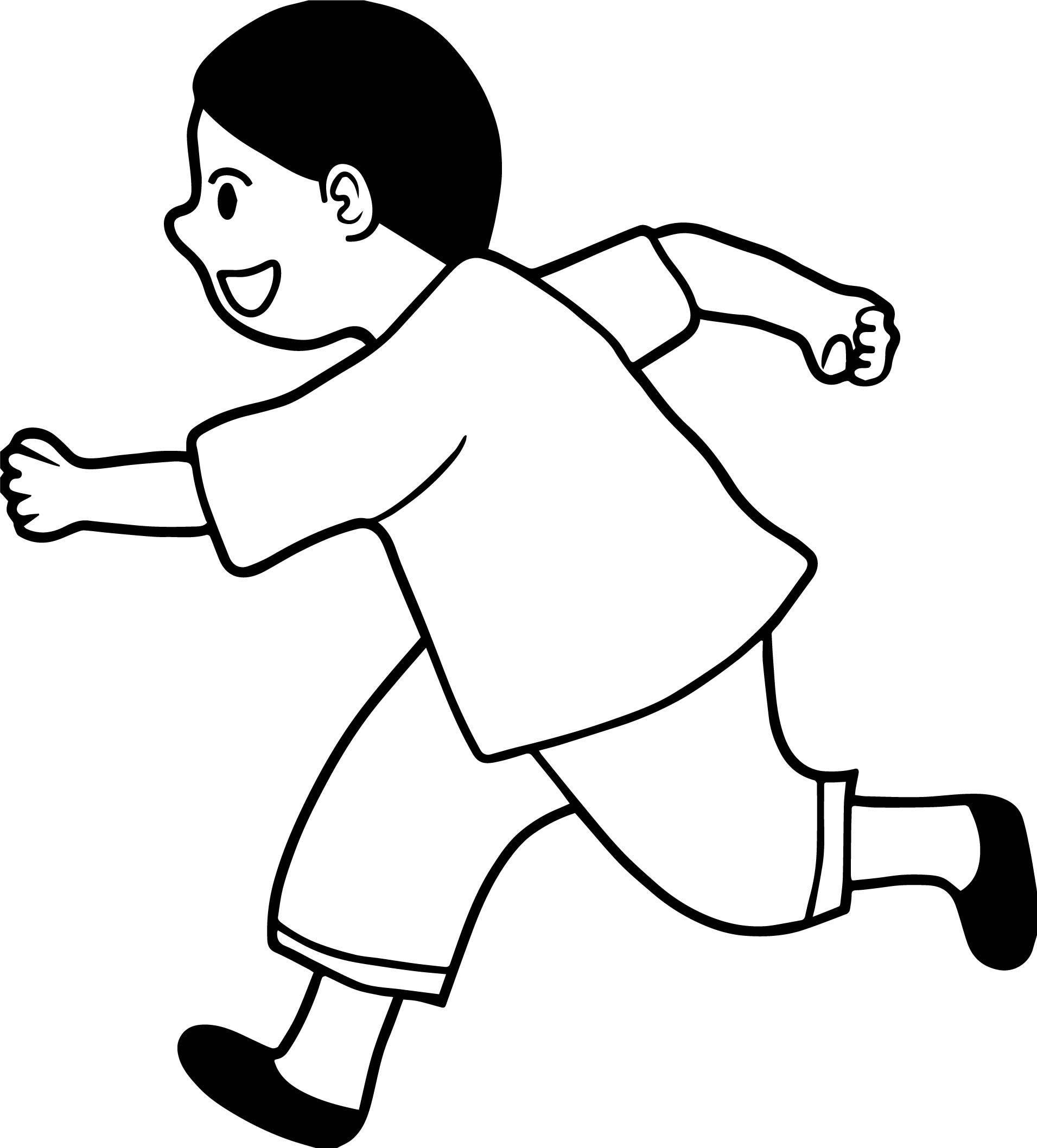 Nice Running Black Hair Boy Coloring Page Coloring Pages For Boys Black Hair Boy Coloring