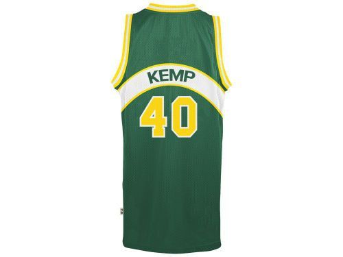 56fd7d804 Men s Shawn Kemp Seattle SuperSonics adidas Green Throwback Jersey ...