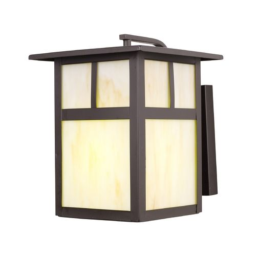 No one will ever think that this outdoor wall lantern houses an energy star approved socket / bulb with the honey colored glass.