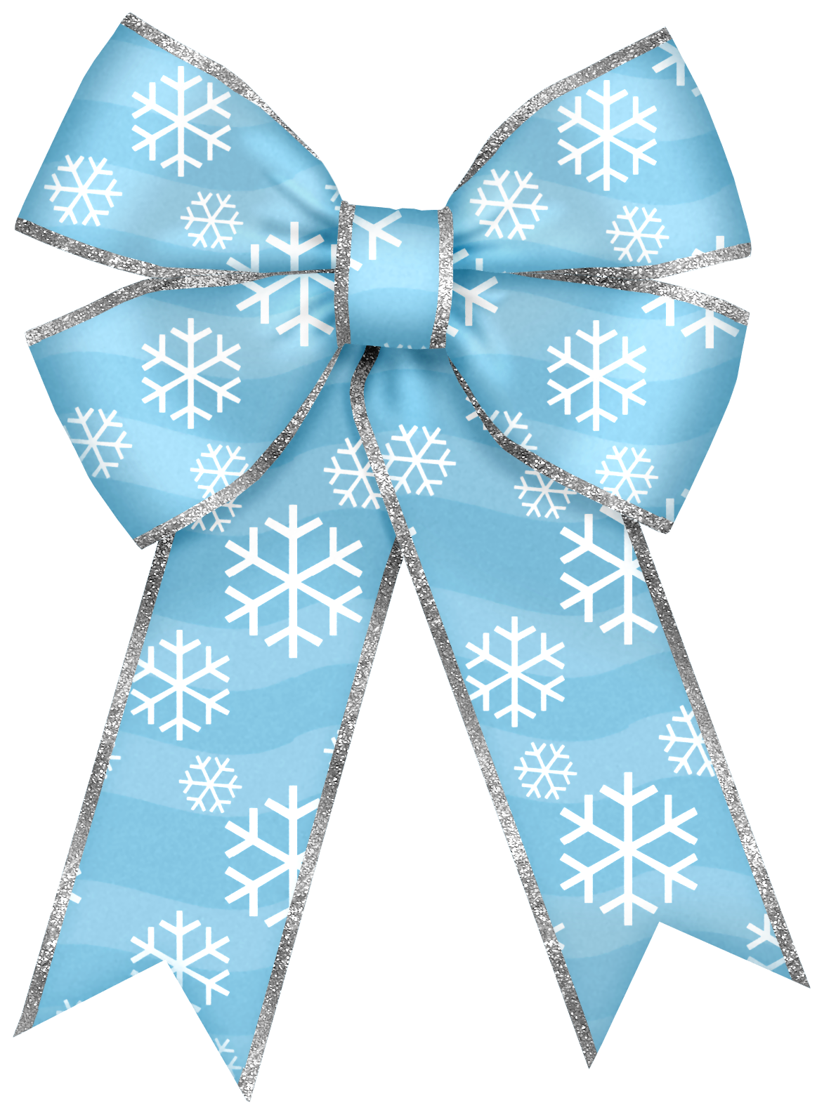 Christmas Blue Bow with Snowflakes PNG Clipart   Ribbon ...