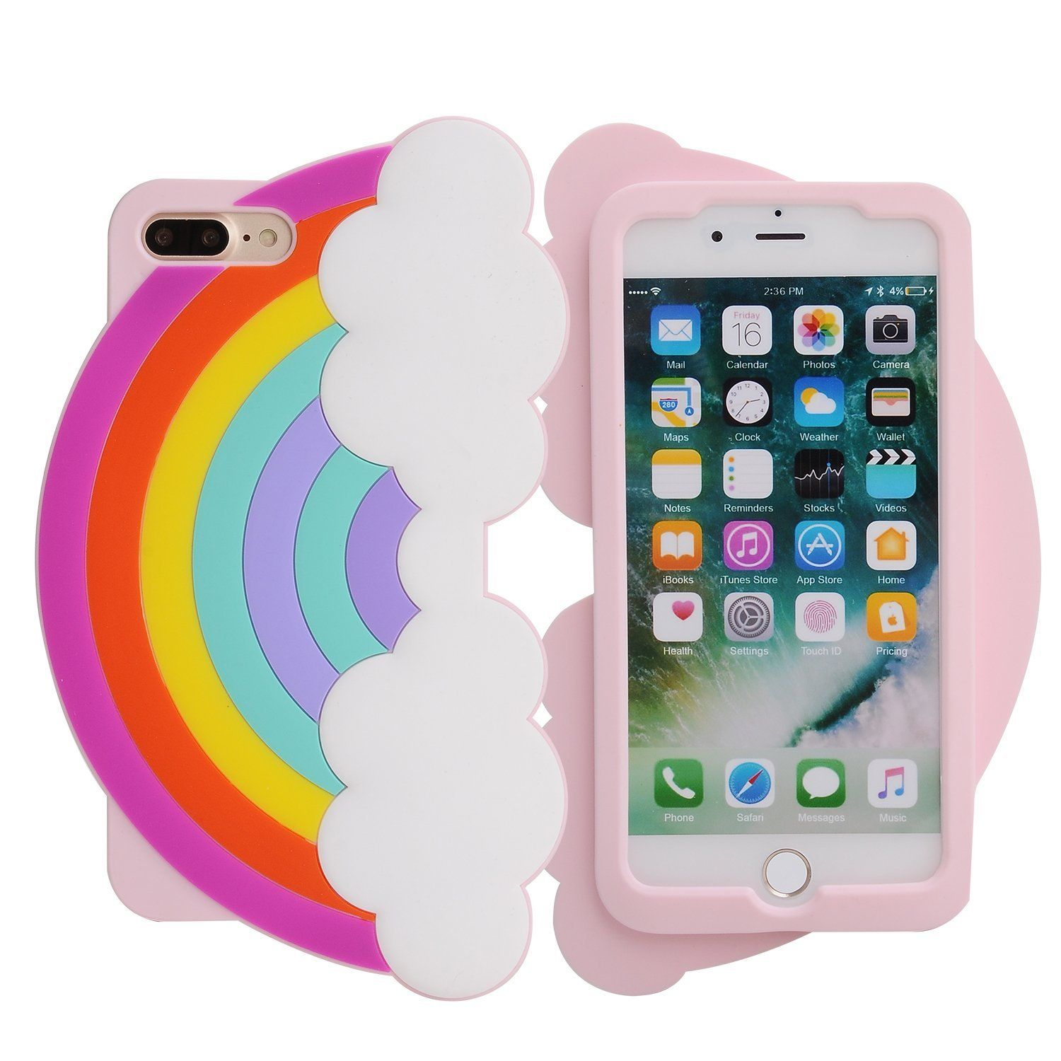 huge selection of e634d 30c5f iPhone 7 Plus Case, iPhone 8 Plus Case, Phenix-Color 3D Cute Cartoon ...