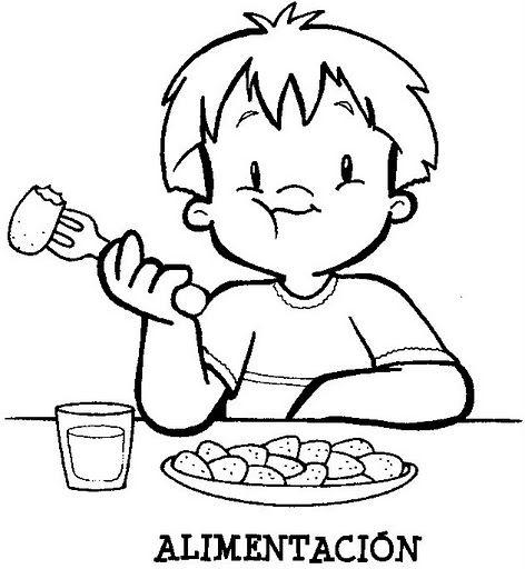 Alimentacion - Dibujalia - Dibujos para colorear - Eventos ...