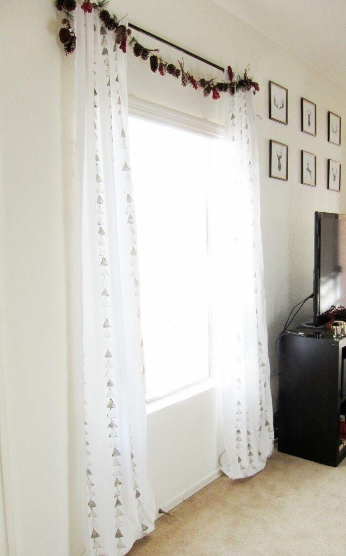 Neroli Blossoms: DIY: Potato Stamp Curtains