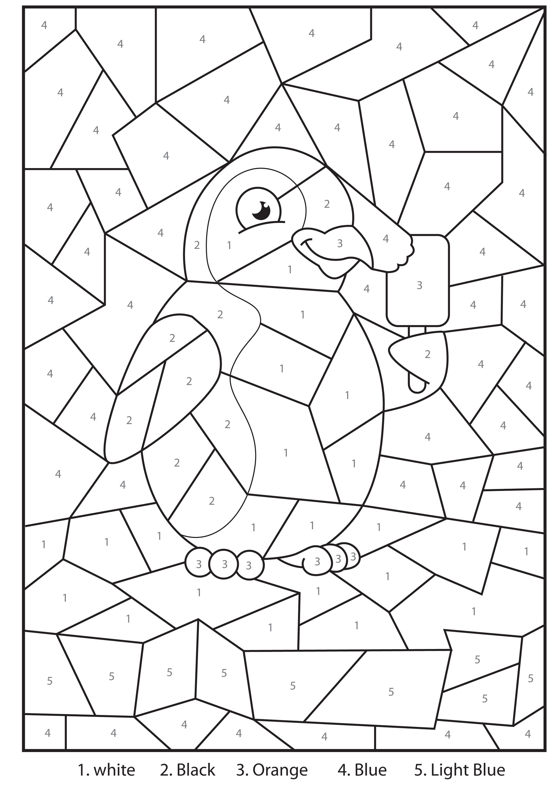 Color By Number Pictures Worksheets With Images