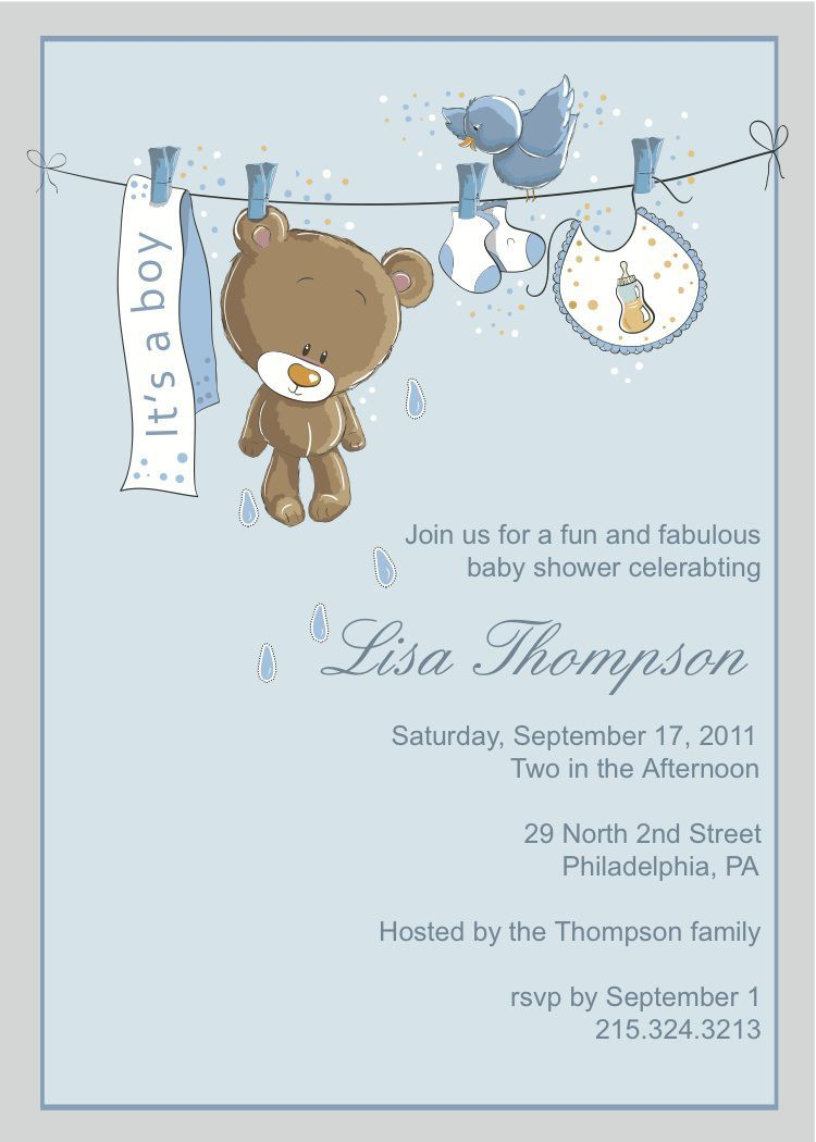 Baby Boy Shower Invitations Free Download Printable In 2019