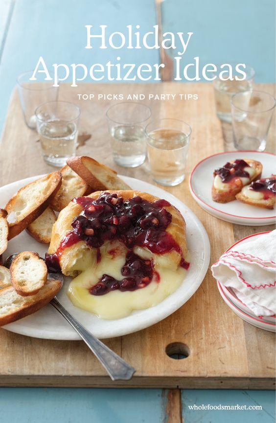 Holiday Appetizer Ideas // Baked brie with sour cherry spread // Christmas and Thanksgiving Recipes // Whole Foods Market: