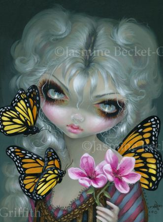 Butterfly in Gloom gothic Rococo fairy art CANVAS PRINT