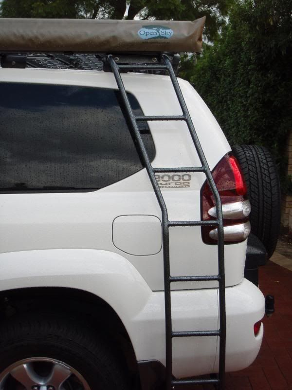 Tracklander Roofrack Awning Ladder Toyota Land Cruiser Prado Land Cruiser Toyota Land Cruiser
