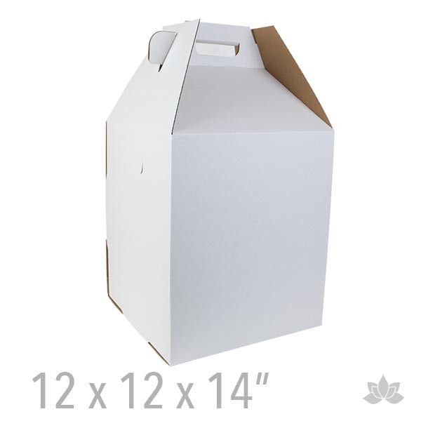 White Cake Box 10 Inch With Removable Lid 1 Pack Quantity