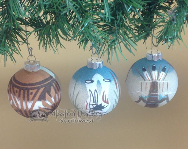 Native American Christmas Ornaments Set Sand Painted - Native American Christmas Ornaments Set Sand Painted Crafty