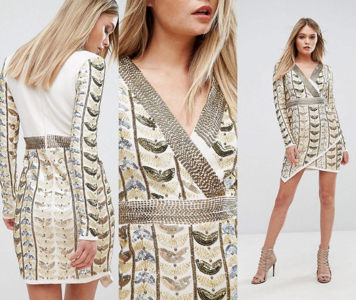 F 2 17 21 Starlet Sukienka Zdobiona Rozmiar 38 7132074309 Oficjalne Archiwum Allegro Dresses Fashion Cover Up