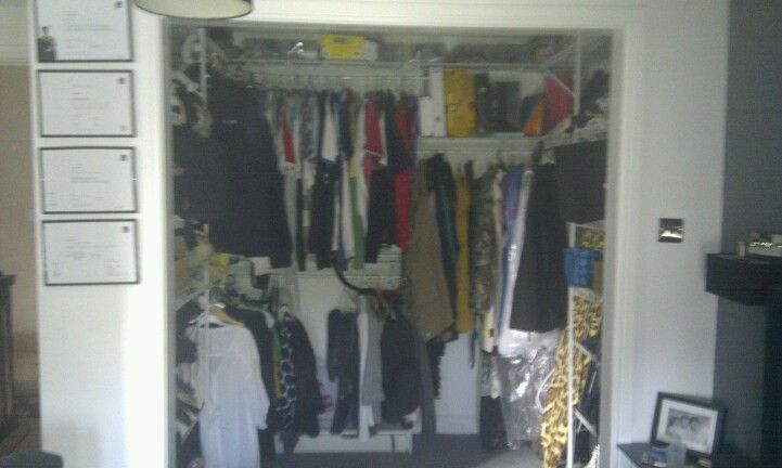 My walk-in wardrobe. It actually worked out cheaper than buying wardrobe.2 years later and I'm waiting for him to put the doors on :-(
