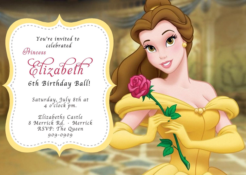Beauty And The Beast Birthday Invitations Baby Shower Invitation