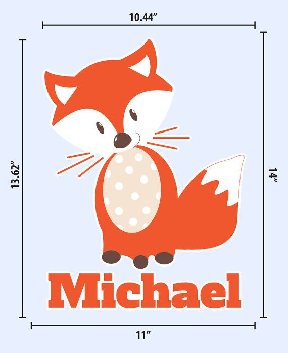 Fox Wall Decal Baby Boys Wall Decals Name by WallDecalSource
