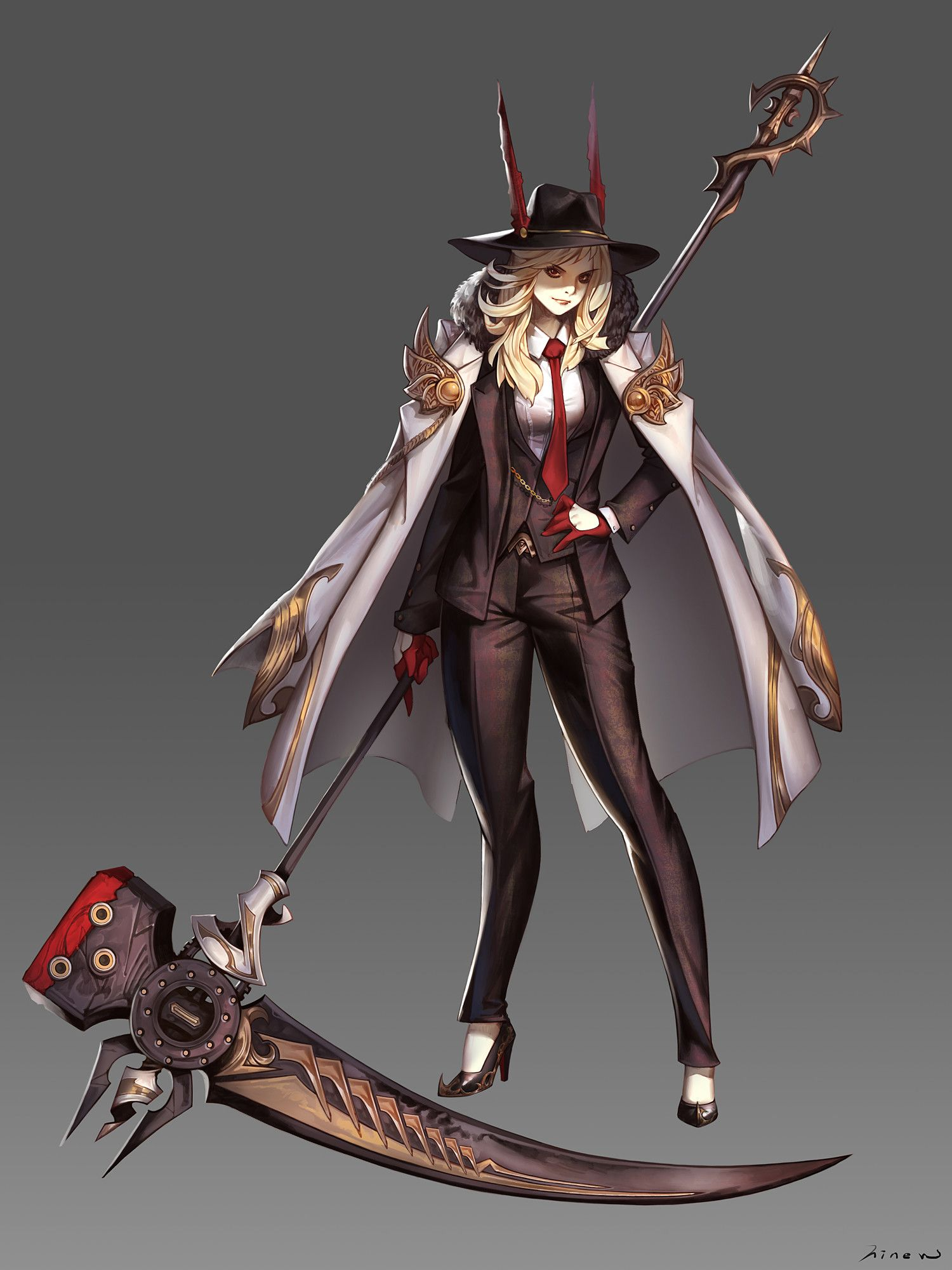 ArtStation Phantom hunter, hinew KIM Female character