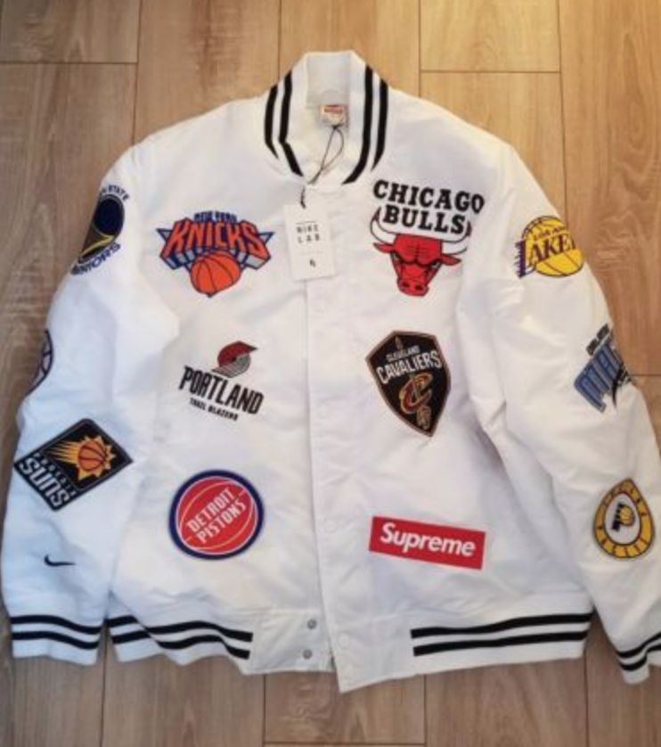 11e0e25a5 FOR SALE  100% AUTHENTIC SUPREME X NIKE NBA TEAMS WARM UP JACKET XL ...