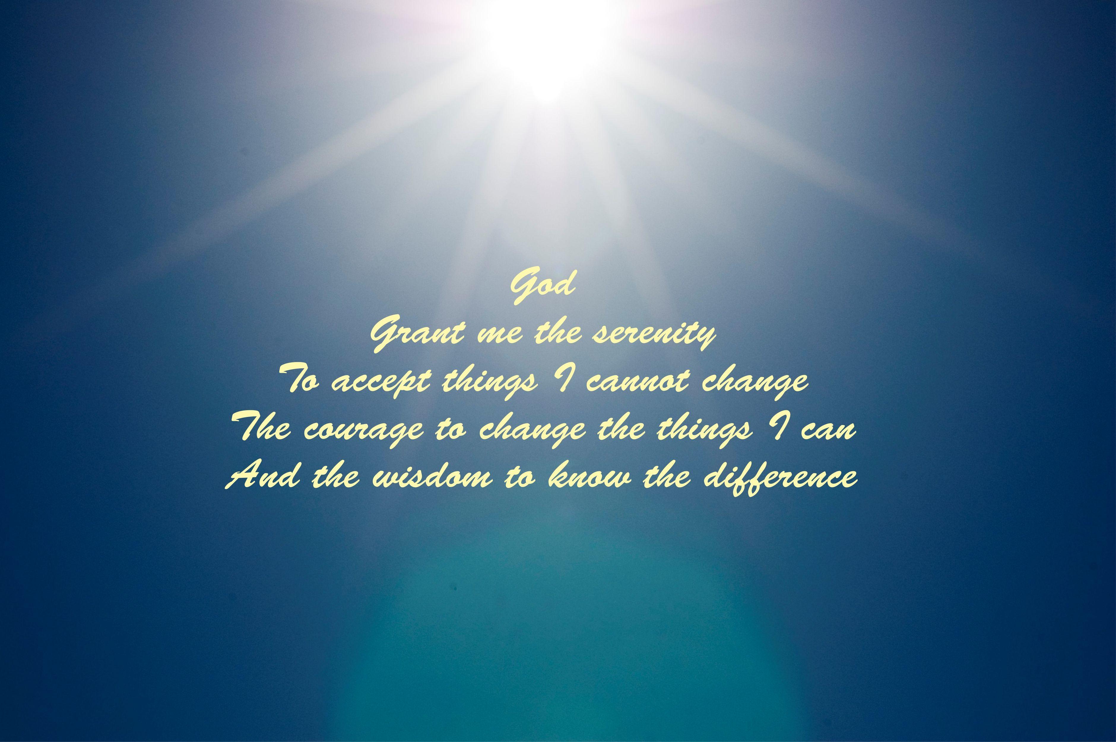 The Serenity Prayer