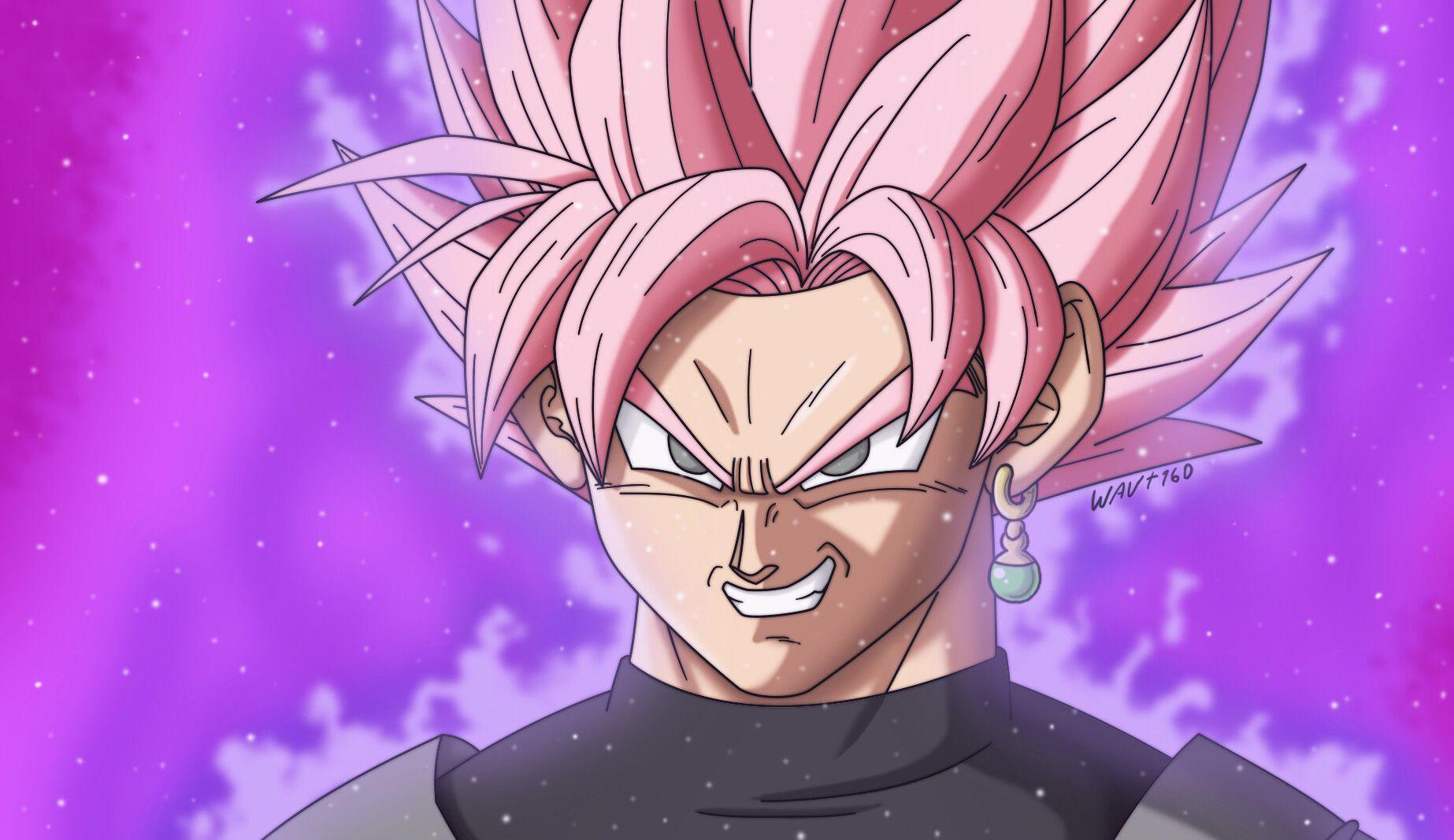 Goku Black Super Saiyan Rose Digital Drawing Goku black