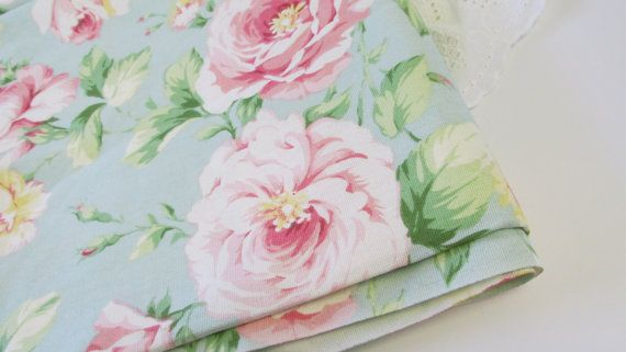 Shabby Rose Upholstery Fabric Cabbage Rose Barkcloth Cottage Chic