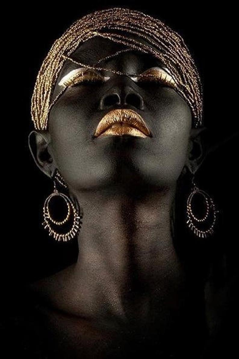 Black wall Art, African wall art African print Afr