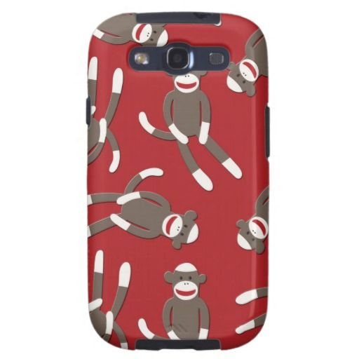 Red Sock Monkey Print Galaxy S3 Cover