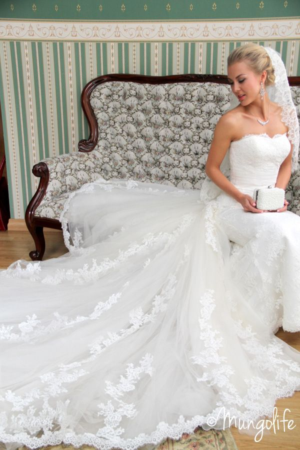 Lovely dress and veil