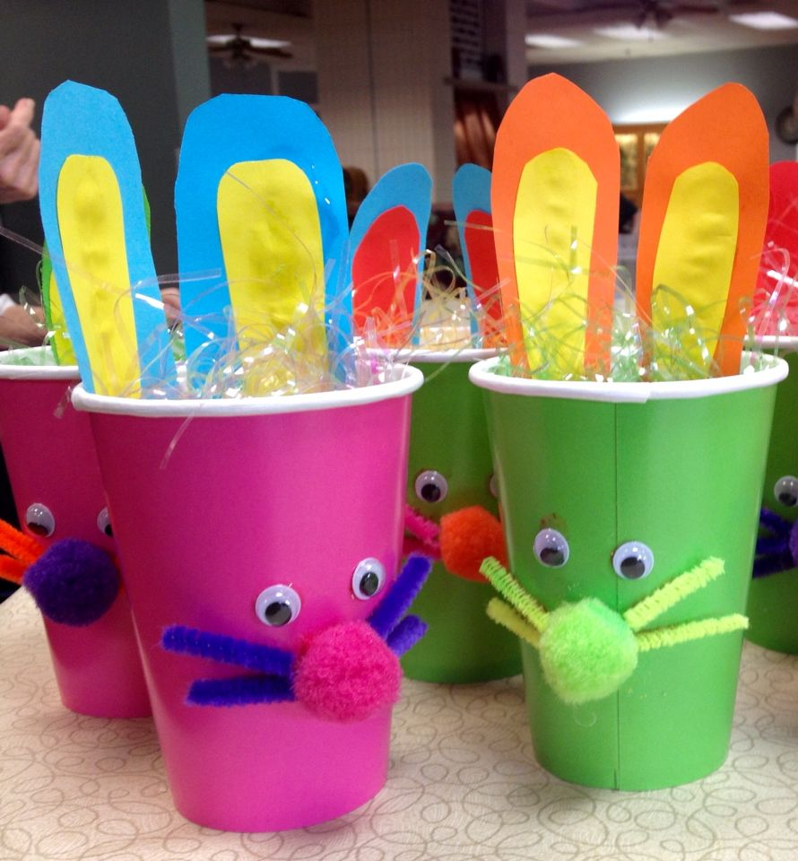 Easter Bunny Cup Craft For Nursing Home Activities We Did These